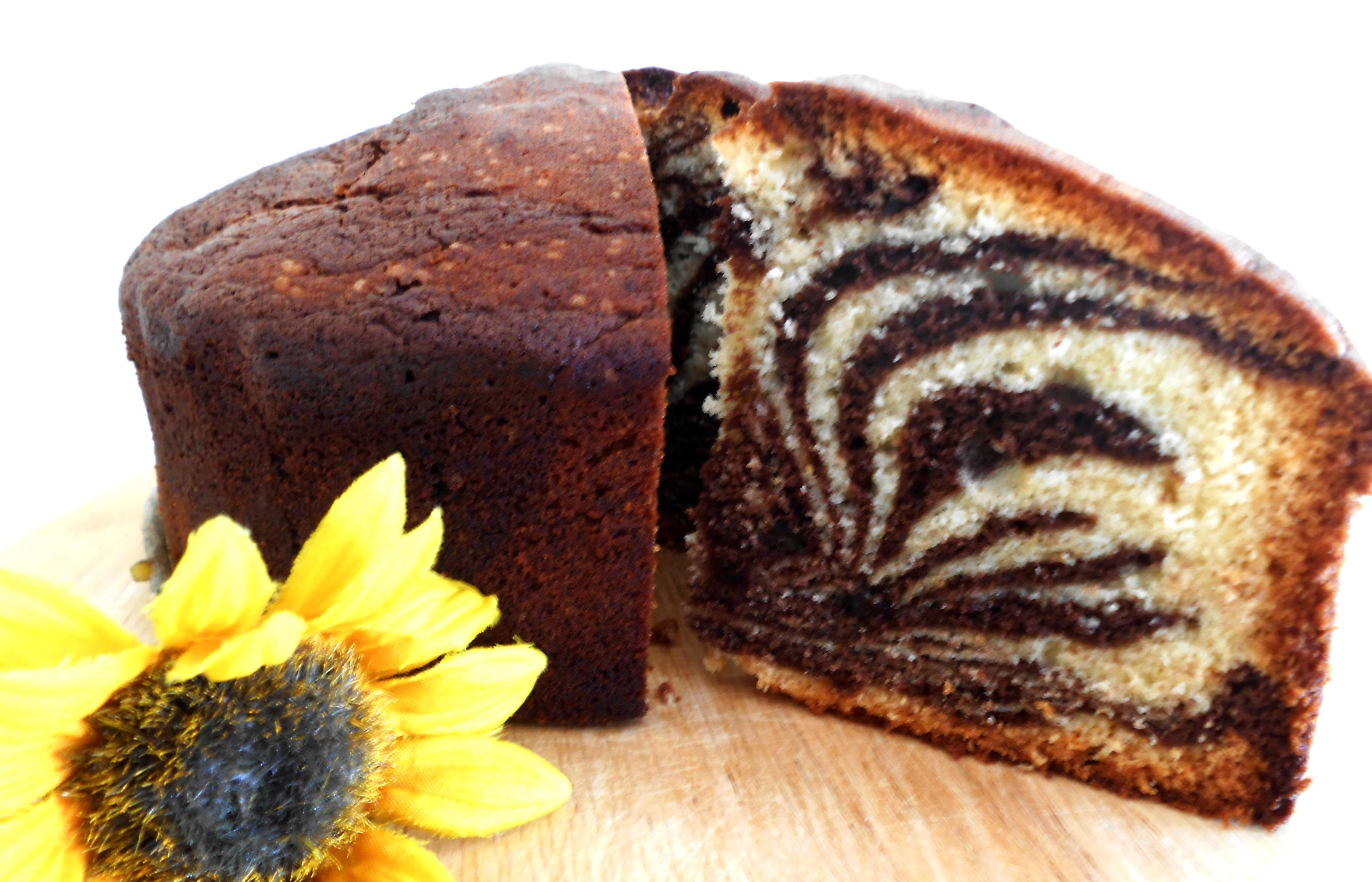 Orange Marble Cake Recipe